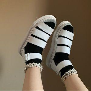 Dr Martens Clarissa White Sandals